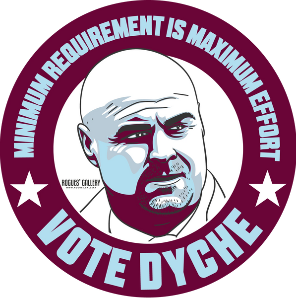 Sean Dyche Burnley FC Manager stickers Vote #GetBehindTheLads
