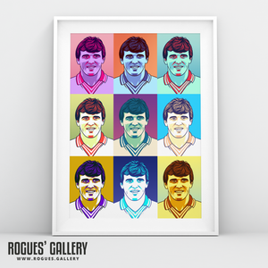 Eddie Gray Leeds United Elland Road LUFC winger A3 art print A1 pop art