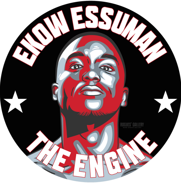 Ekow Essuman Boxer beer mats #GetBehindTheLads The engine