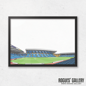 Elland Road Leeds United stands A3 Print design LUFC