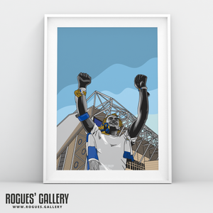 Elland Road Leeds United Billy Bremner Statue A3 Print design