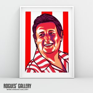 Eric Bristow The Crafty Cockney Dart legend champion England World Champ A3 print