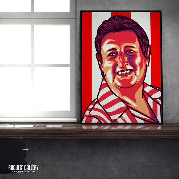 Eric Bristow The Crafty Cockney Dart legend champion England World Champ A1 print