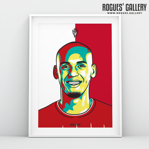 Fabinho midfielder Liverpool FC Anfield Art print A3 Champions Limited Edition