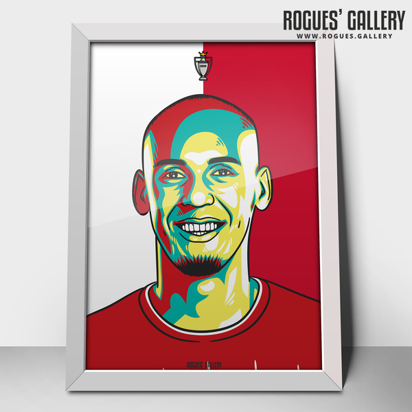 Fabinho midfielder Liverpool FC Anfield Art print A3 Champions Limited Edition winner 30 years