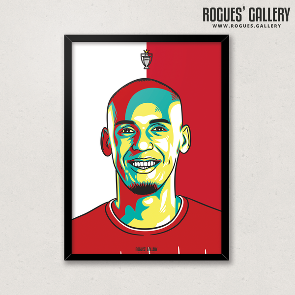 Fabinho midfielder Liverpool FC Anfield Art print A3 edits Champions Limited Edition Title