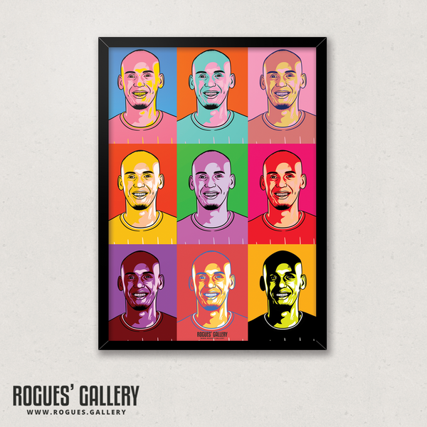 Fabinho midfielder Liverpool FC Anfield Art print A3 edits Champions Limited Edition Title pop art