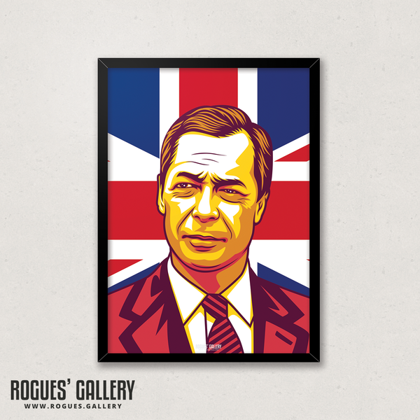 Nigel Farage politician politics EU Brexit Party European Union A3 print edit