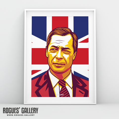 Nigel Farage Brexit Party UKIP A3 print flag design