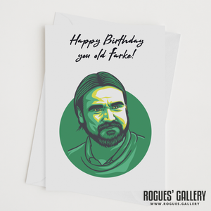 Daniel Farke Norwich City NCFC boss manager canaries birthday card