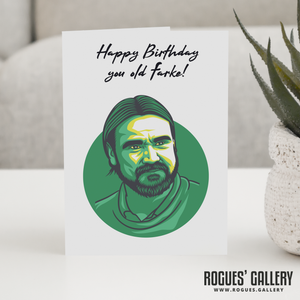 Daniel Farke Norwich City NCFC boss manager canaries birthday card promotion
