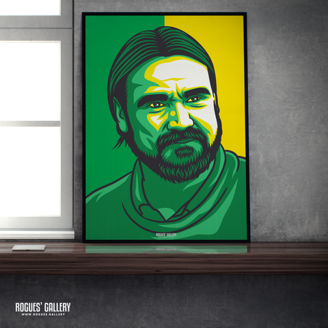 Daniel Farke Norwich City FC NCFC Carrow Road boss manager promotion A1 print
