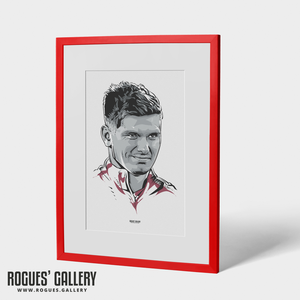 Owen Farrell England rugby captain A3 portrait custom art World Cup smirk