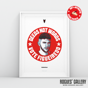 Tobias Figueiredo Nottingham Forest defender signed red print A3 #GetBehindTheLads
