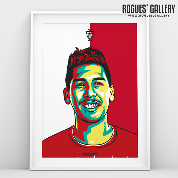 Roberto Firminho Liverpool FC Anfield Art print A3 Champions Limited Edition