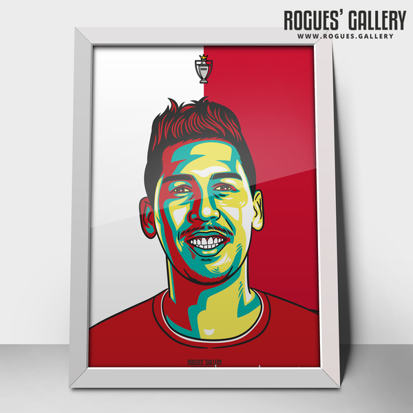 Roberto Firminho Liverpool FC striker Anfield Art print A3 Champions Limited Edition edit 30 years