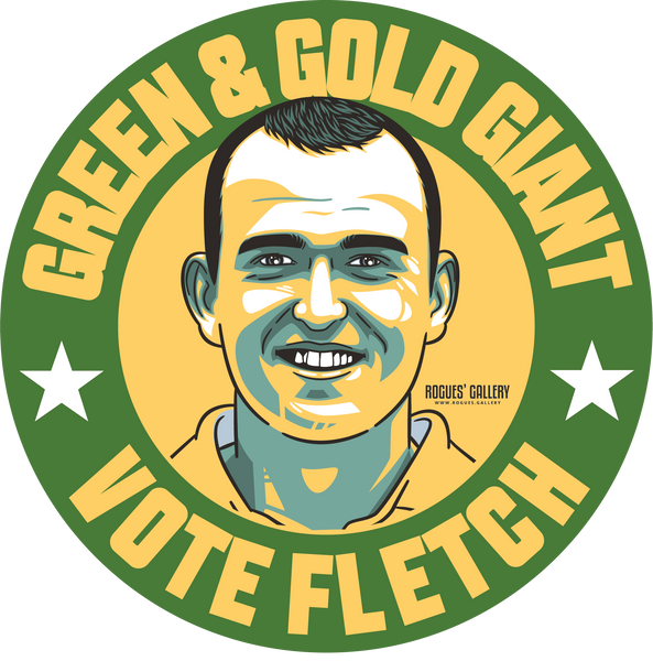 Luke Fletcher Cricketer Notts fast bowler green gold giant sticker #GetBehindTheLads