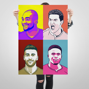 Nottingham Forest Pop Art A1 image Samba Sow Joe Lolley Taigo Silva Brice Samba edit