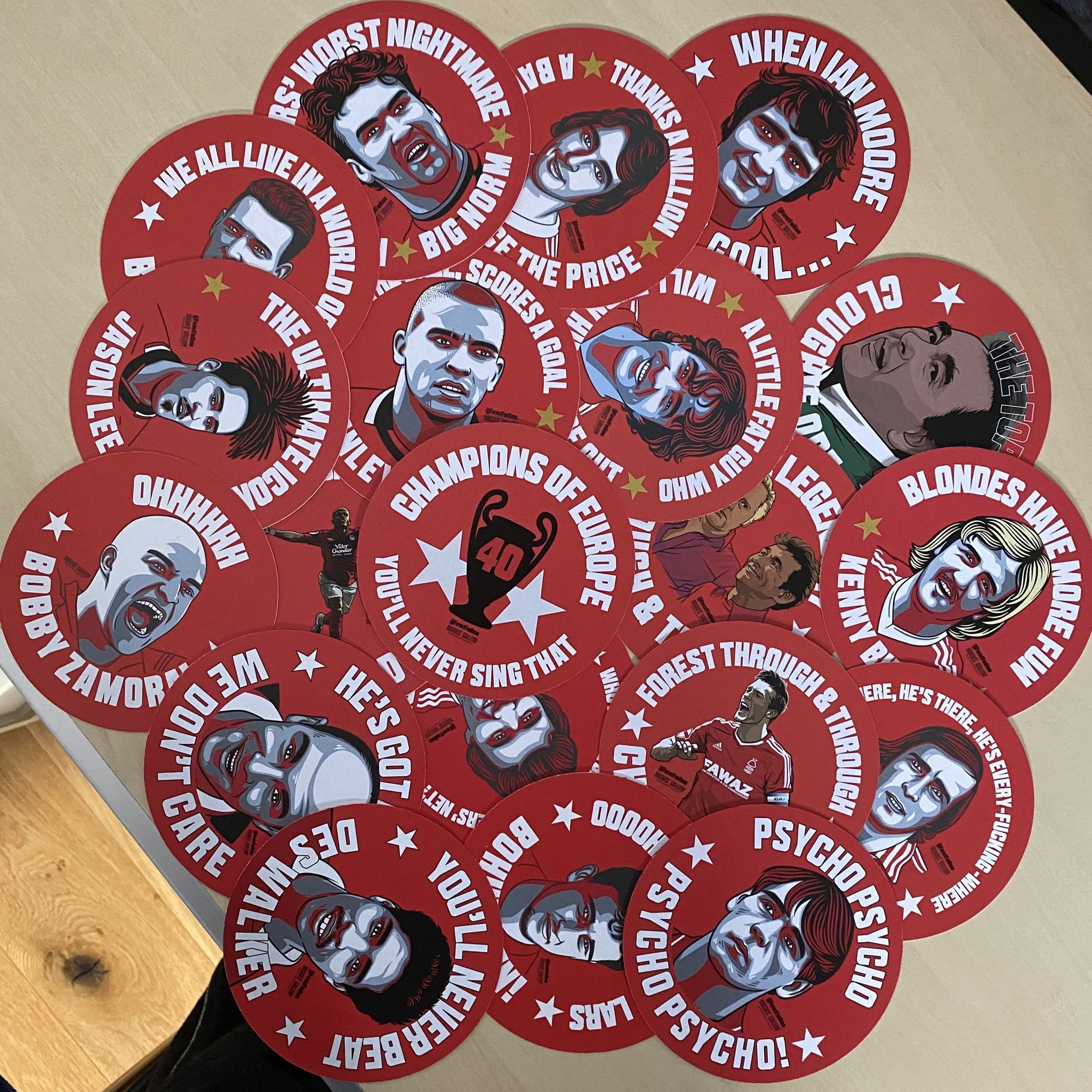 Forest Retro Special Bundle - #GetBehindTheLads DELUXE Waterproof Stickers or Beer Mats