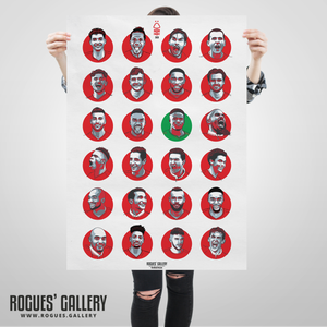 Nottingham Forest 2020 squad #GetBehindTheLads Get behind the lads A1 art print