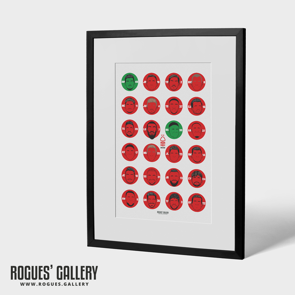 Forest 2019-2020 Squad - A3 Print