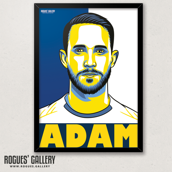 Adam Forshaw Leeds United FC midfielder A3 art print design