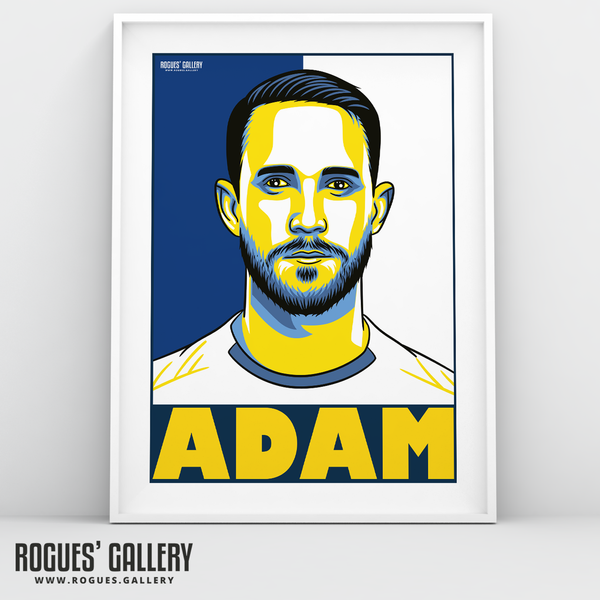Adam Forshaw Leeds United LUFC Elland Road midfielder A3 art print edit