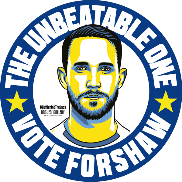 Adam Forshaw Leeds United midfielder stickers Vote #GetBehindTheLads