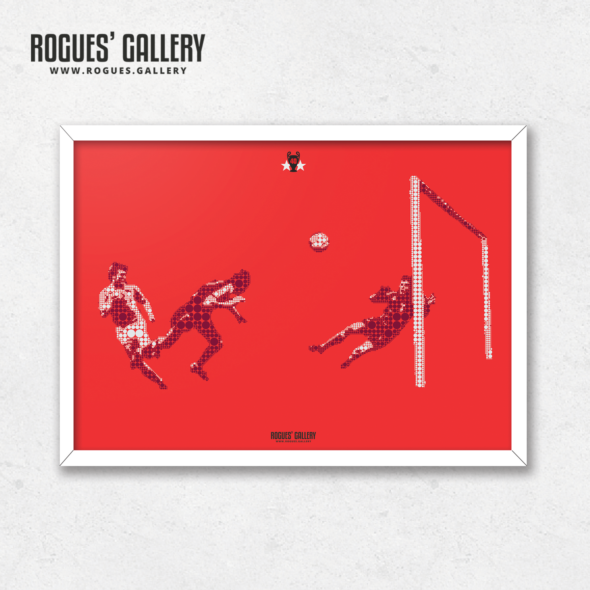 Trevor Francis Nottingham Forest European Cup Malmo 1979 Goal minimal dots A3 print