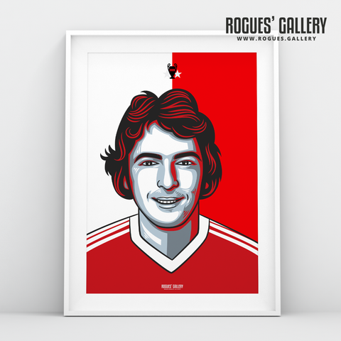 Trevor Francis Nottingham Forest striker A3 print edit design