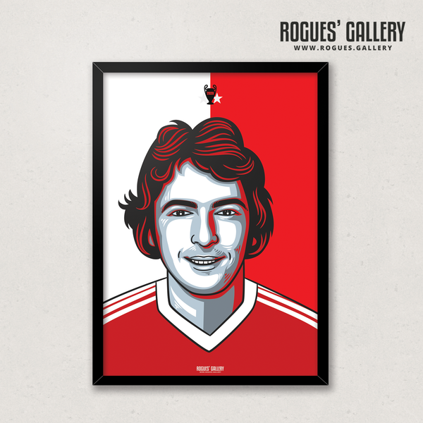 Trevor Francis Nottingham Forest forward A3 print winner million pound