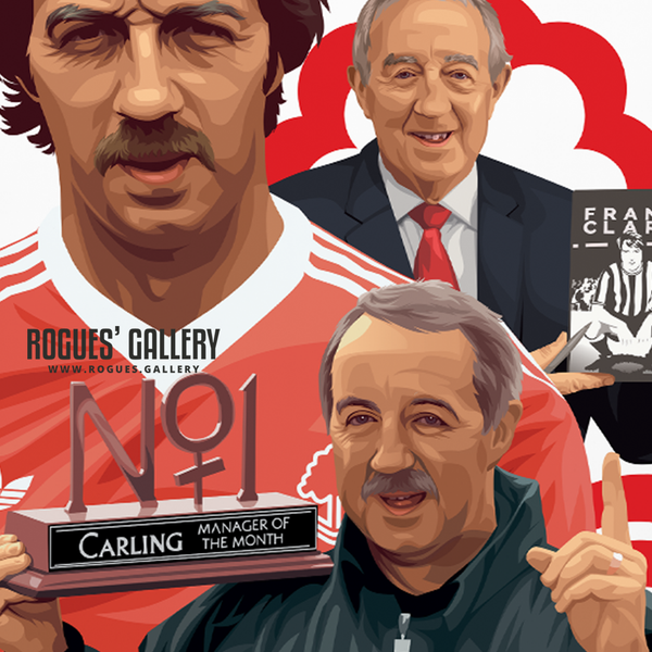Frank Clark - Player, Manager, Chairman & Legend - A1 & A3 Print