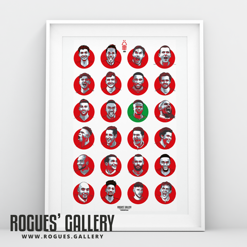 Nottingham Forest 2020 squad A3 art print #GetBehindTheLads Get behind the lads
