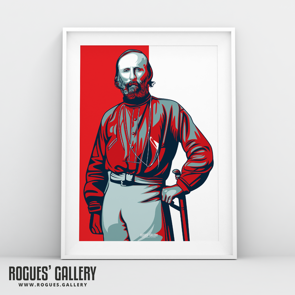 Giuseppe Garibaldi portrait City Ground NG2 Garibaldi Suite Nottingham Forest exclusive A3 Print edits