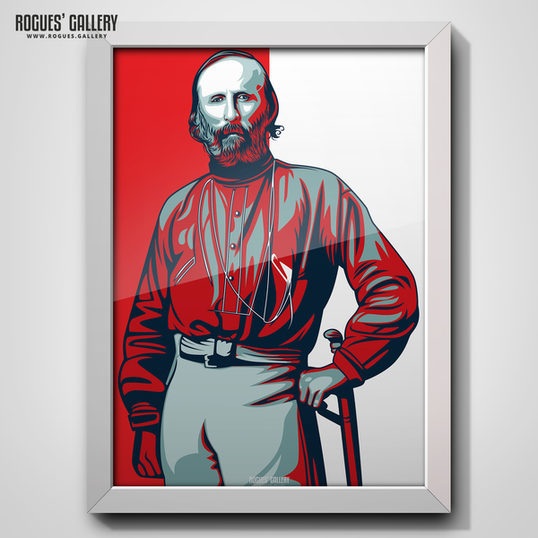 Giuseppe Garibaldi portrait at The City Ground NG2 Garibaldi Suite Nottingham Forest A3 Print edit