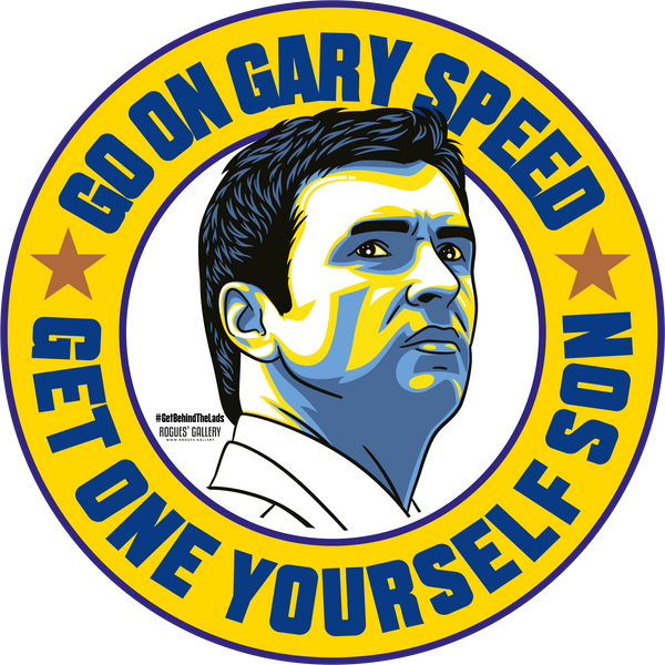 Gary Speed Leeds United get one yourself Manager campaign stickers  #GetBehindTheLads LUFC