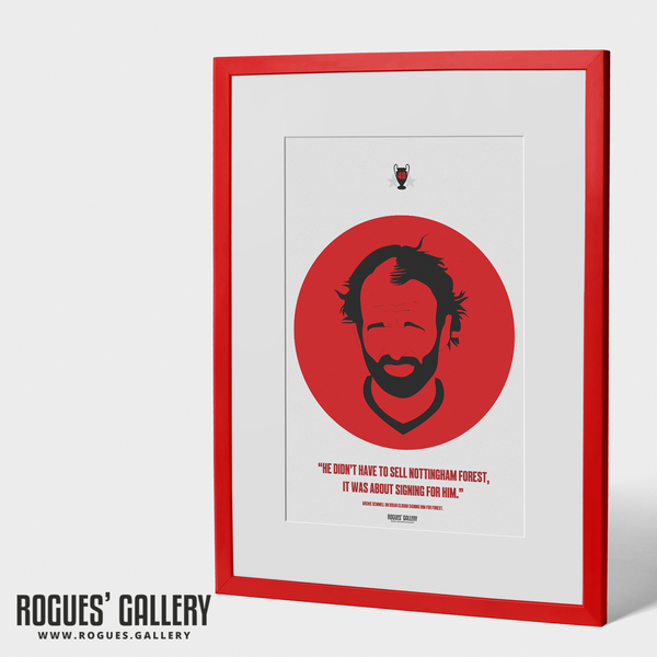 Archie Gemmill midfielder art Clough Design A3