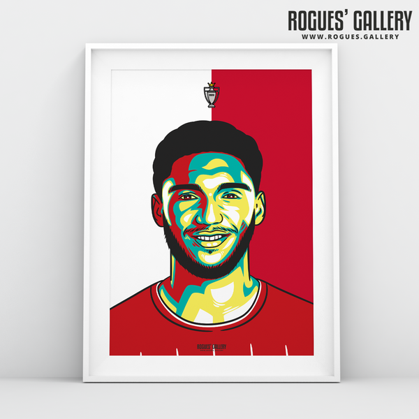 Joe Gomez defender Liverpool FC Anfield Art print A3 Champions Limited Edition edit