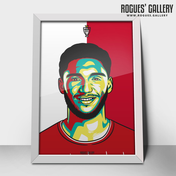 Joe Gomez defender Liverpool FC Anfield Art print A3 Champions Limited Edition title winners