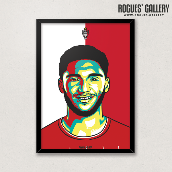 Joe Gomez defender Liverpool FC Anfield Art print A3 Champions Limited Edition