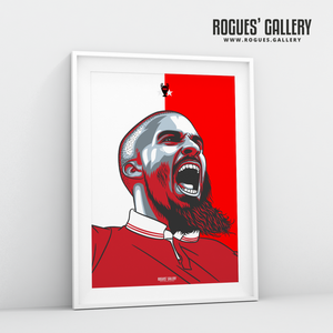 Lewis Grabban Nottingham Forest City Ground forward A3 print