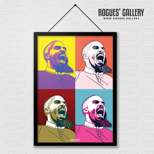 Pop art Lewis Grabban Nottingham Forest City Ground striker A3 print edit