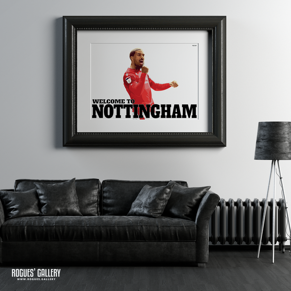 Lewis Grabban Nottingham Forest City Ground striker goals A1 print edit Welcome To Nottingham