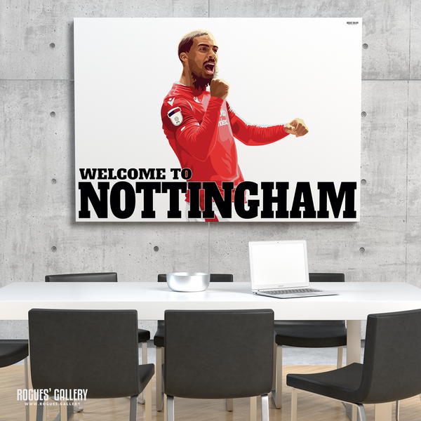 Lewis Grabban Nottingham Forest City Ground striker goals A0 poster edits Welcome To Nottingham