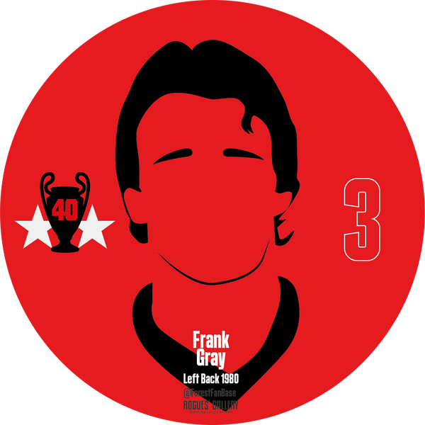 Frankie Gray left back Nottingham Forest Miracle Men stickers City Ground European Cup 1979 1980