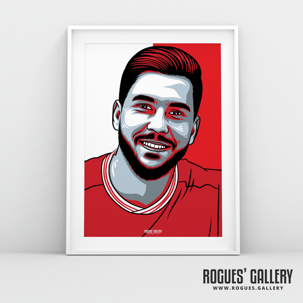 Miguel Angel Guerrero striker Nottingham Forest FC The City Ground NFFC A3 print