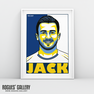 Jack Harrison Leeds United FC winger A3 art print design