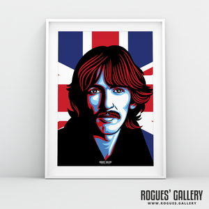 George Harrison The Beatles A3 huge large poster union jack