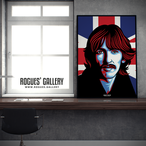 George Harrison The Beatles A0 huge large poster union jack