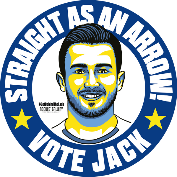 Jack Harrison Leeds United midfielder stickers Vote #GetBehindTheLads